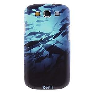Zaki-Matte Style Shark in the Sea Pattern Durable Hard Case for Samsung Galaxy S3 I9300