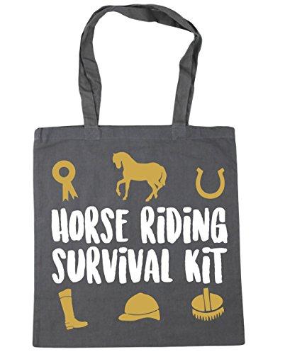 HippoWarehouse equitación Kit de supervivencia bolsa de la compra bolsa de playa 42cm x38cm, 10litros gris grafito