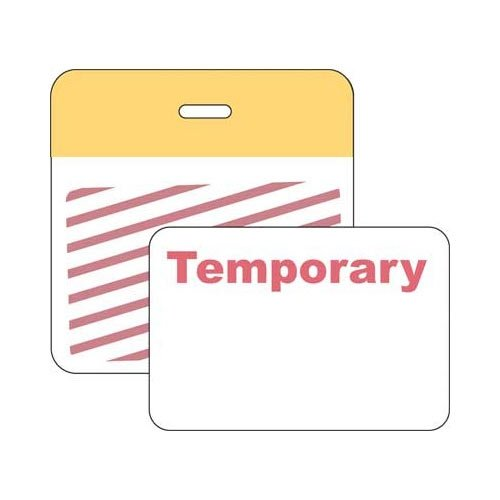 Brady 95670, Securalert Color Card Clip-On Badge, Pack of 500 pcs by Brady
