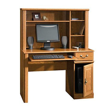 Orchard Hills Small Space Computer Desk with Hutch(Carolina Oak Finish) by OFF1