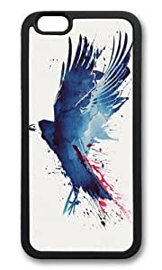 Apple Iphone 6 Case,WENJORS Awesome Bloody Crow Soft Case Protective Shell Cell Phone Cover For Apple Iphone 6 (4.7 Inch) - TPU Black