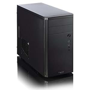 Fractal Design Core 1100 Series Micro ATX - Carcasa para torre de ordenador, color blanco y negro