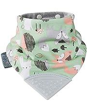 Cheeky Chompers 5060347712061 Desenli Diş Kaşıyıcılı Fular Önlük, Çok Renkli