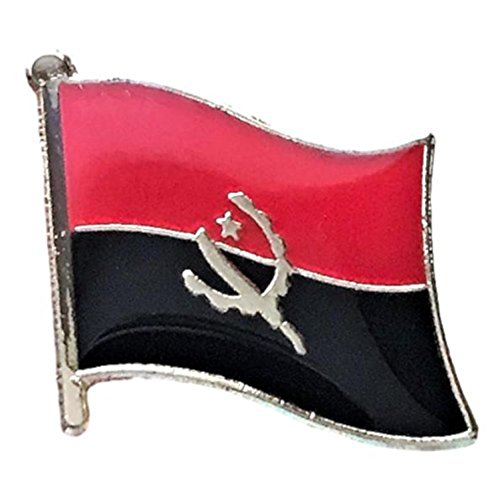 "Backwoods Barnaby Angola Flag Lapel Pin/International Travel Pin Collection (0.75"" x 0.75"")"