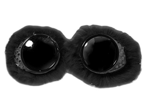 Flashback & Freedom Dark Lens Goggles with Fur - Colors May Vary ()