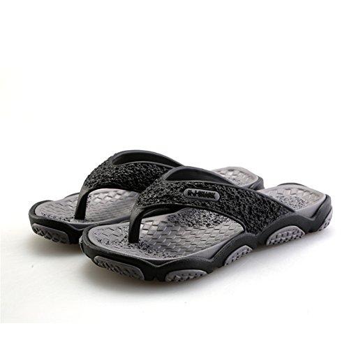 SGoodshoes Chanclas para Sandalias de goma para hombre piscina Gris