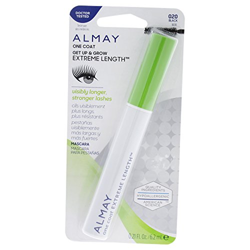 Almay Extreme Length Waterproof Mascara, Black, 0.24 fl. oz.