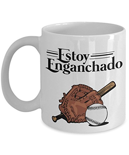 Estoy Enganchado Baseball Mexican Style Drinking Coffee & Tea Gift Mug For Spanish Speaking Dad With Hispanic ()