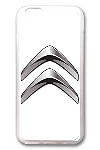 iPhone 6 Case - Clear Soft TPU Back Cover with Citroen Car Logo 3 Print for iPhone 6 Scratch-Resistant Clear Slim Fit Cover for iPhone 6 4.7 Inches