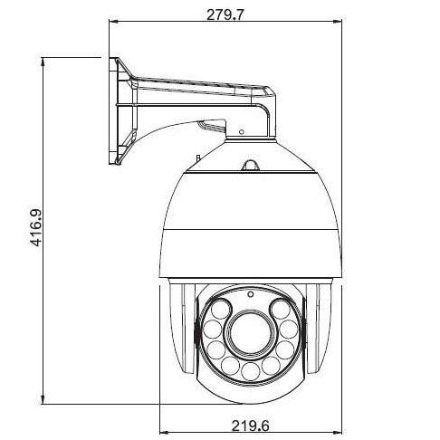 Ventech Professional Ptz Security Camera 30x Zoom Sony 700tvl Ccd