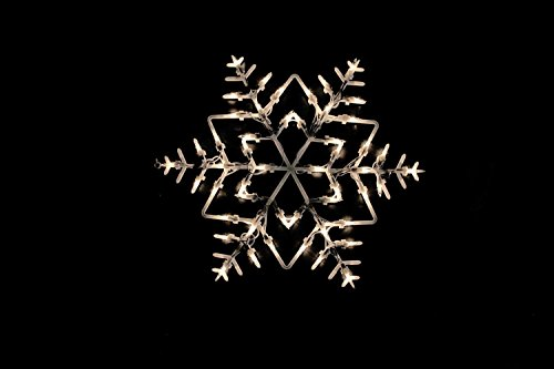 """Price comparison product image 18"""" Lighted Snowflake Double Sided Christmas Window Silhouette Decoration"""
