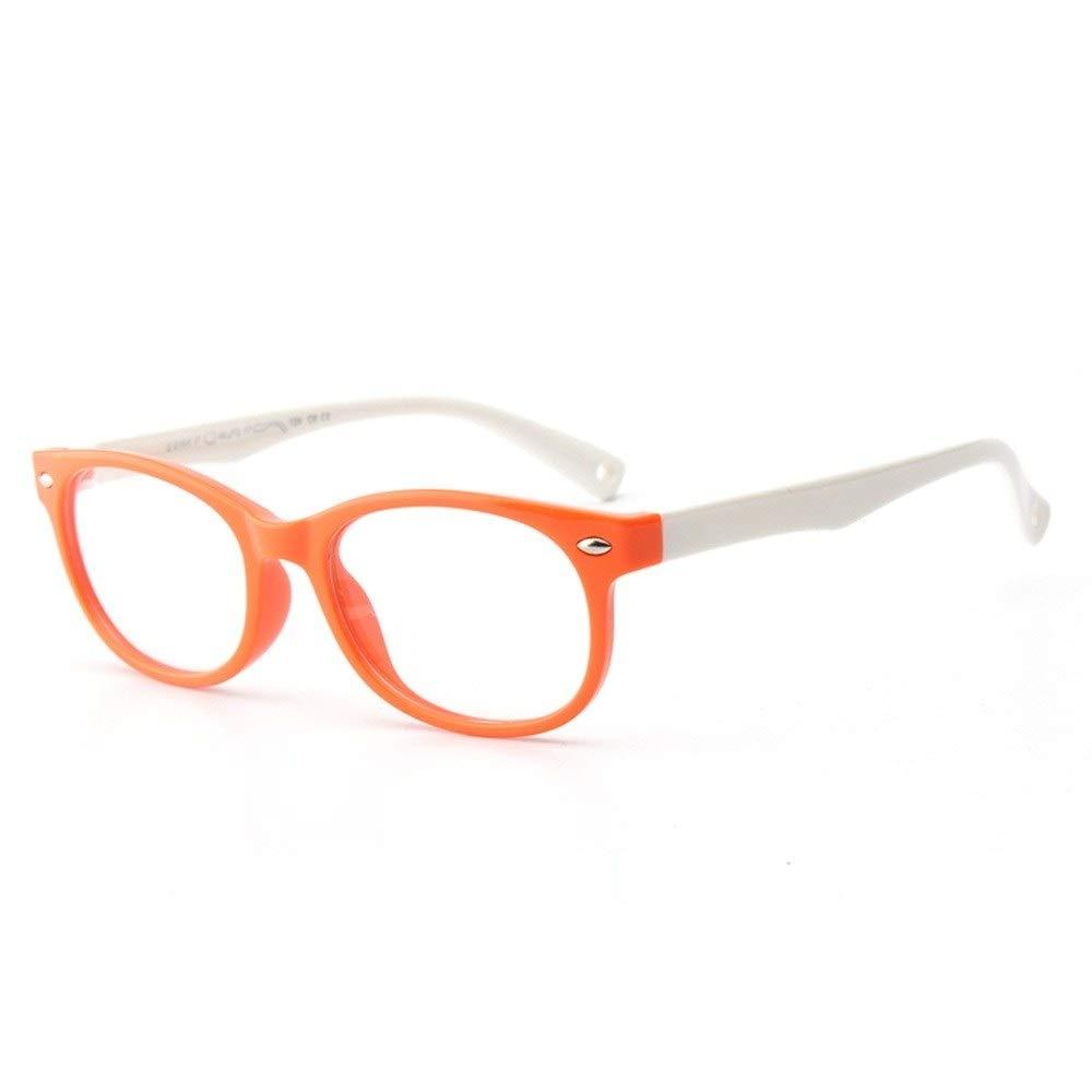 Lila und Gelb Color : Orange Gaorunli Stilvolle und sch/öne Brillenfassung Kinder Silikon Brille Flexible Kids Brillengestell mit Brillenband f/ür Jungen M/ädchen