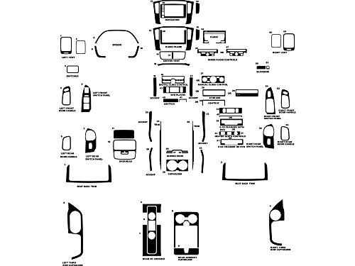 Rdash Dash Kit Decal Trim for Honda Pilot 2006-2008 - Wood Grain ()