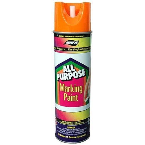 Aervoe 1392 All Purpose Fluorescent Marking Paint (Orange) by Aervoe