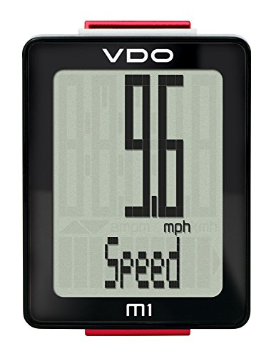 VDO M1 Wireless Largest digits and display multiple function multiple language auto start stop Cycling Computer Bicycle Speedometer by Premium Brand