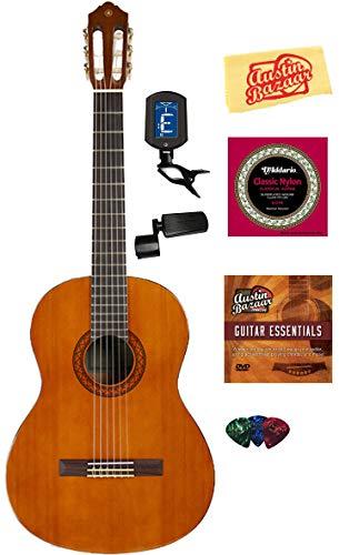 Swing Yamaha (Yamaha C40 Nylon String Acoustic Guitar Bundle with Instructional DVD, Strings, Pick Card, and Polishing Cloth)