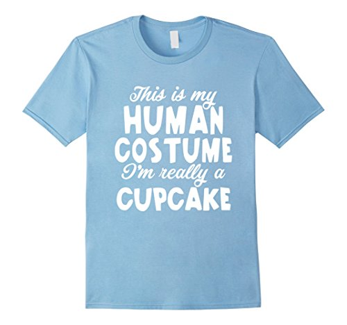 Diy Cupcake Costumes (Mens Cupcake Halloween Costume Shirt Easy Funny for Girls Women 2XL Baby Blue)
