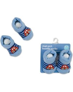 Baby Boy Bootie Socks 0-6 Months