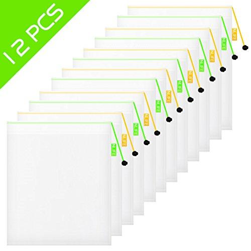 """nlife wiederverwendbaren taschen waschbar mesh taschen produzieren umweltfreundlichen taschen für leichte netto einkaufen lagerung von obst spielzeug, kosmetika, schuhe ( 12"""" by 13.5"""", Set of 12 )"""