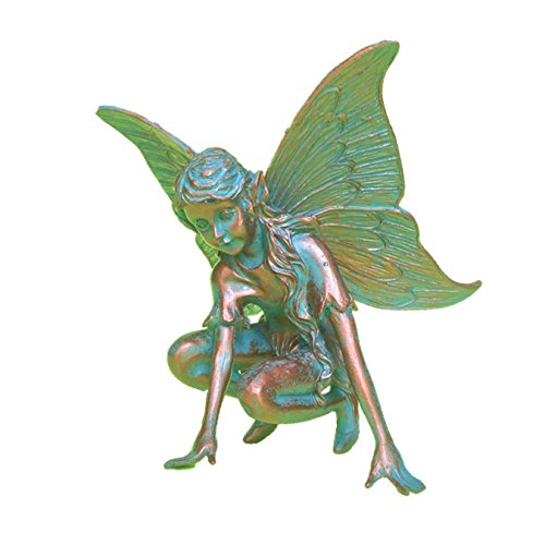 Fairy Butterfly Figurine (Suffolk Fairies Homestyles Butterfly Fairy Figurine #96202 Garden Statue Bronze Patina)