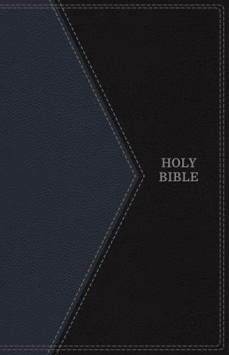 KJV, Thinline Bible, Large Print, Imitation Leather, Blue/Black, Indexed, Red Letter Edition