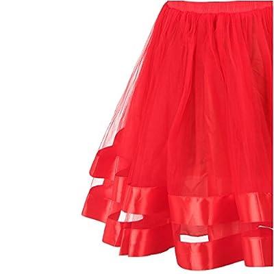 Topdress Women's 1950s Tutu Short Petticoat Skirt Crinoline Underskirt Slip