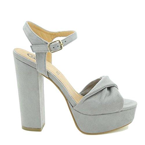Femme Toocool Gris À Chaussures Brides qOOUtg