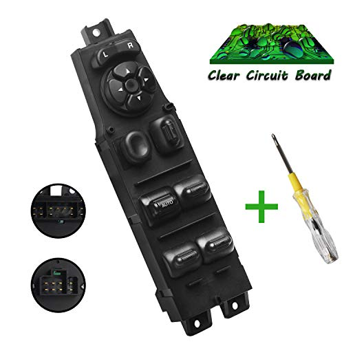 Beneges Master Power Window Switch Compatible with 1997-2001 Jeep Cherokee 4 Door Front Left Driver Side Control Switch 56009449AC, 68171681AA