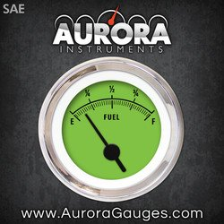 GAR158ZEXKABAC Rider Green Fuel Level Gauge 1433 Aurora Instruments