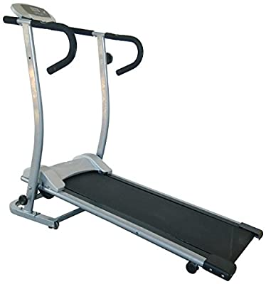 Sunny Health & Fitness SF-T1409M Magnetic Manual Treadmill, Gray