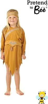 Pocahontas - Disfraz de india para niña, talla 5-7 años: Amazon.es ...