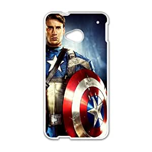 Captain America HTC One M7 Phone Case Black white Gift Holiday Gifts Souvenir Halloween Gift Christmas Gifts TIGER157688