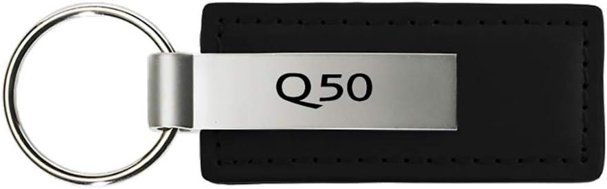 INC Genuine Infiniti Q50 Logo Metal Black Chrome Tear Drop Key Chain Ring Fob Au-Tomotive Gold