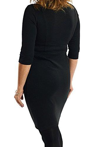 Schwarzes Etuikleid Abendkleid Bleistiftkleid Gr 38 40 42 44 46 48 50 52 54 auch große Größen