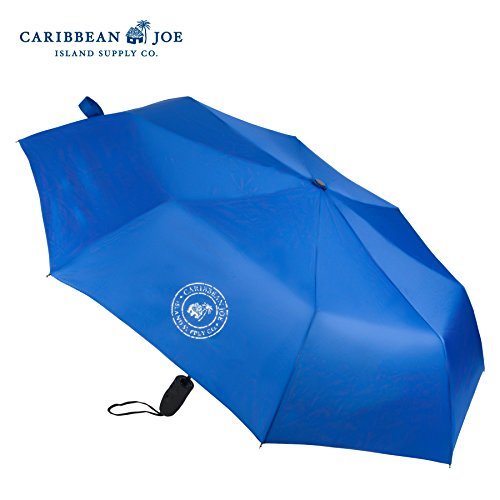 caribbean-joe-auto-open-close-stick-collapsible-umbrella-with-velcro-closure-royal-blue