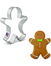 Ann Clark Cookie Cutters Happy Gingerbread Man Cookie Cutter - 5 Inches - Us Tin Plated Steel