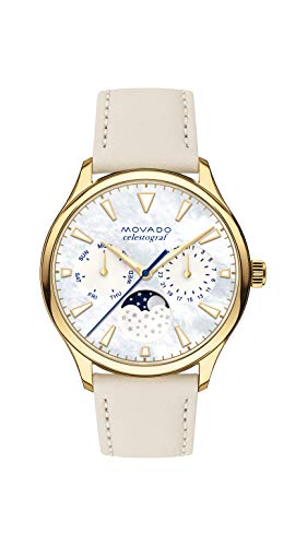 age Yellow Gold Watch with Printed Index Dial, Gold/White/Brown (Model 3650072) ()