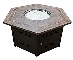 PHAT TOMMY Fire Pit with Faux stone top