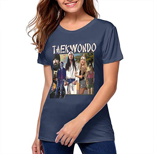 Women's Walk Off The Earth Vintage Shirts Music Band Tee Navy S