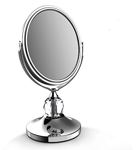 Lighted Makeup Mirror - LED Vanity Makeup Mirror 7x Magnification Eye Makeup Mirror 7' Touch Screen Adjustable Light, Vanity Mirror Polished Chrome Travel Mirror