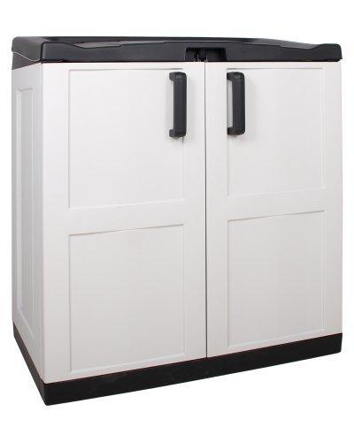 Gerätebox Aufbewahrungsschuppen Comfort XL Recycling, grau