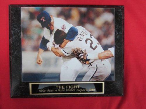 Nolan Ryan Robin Ventura THE FIGHT Collector Plaque w/8x10 Photo