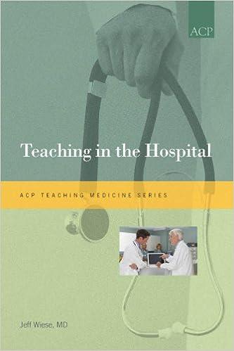 amazon teaching in the hospital teaching medicine jeffrey