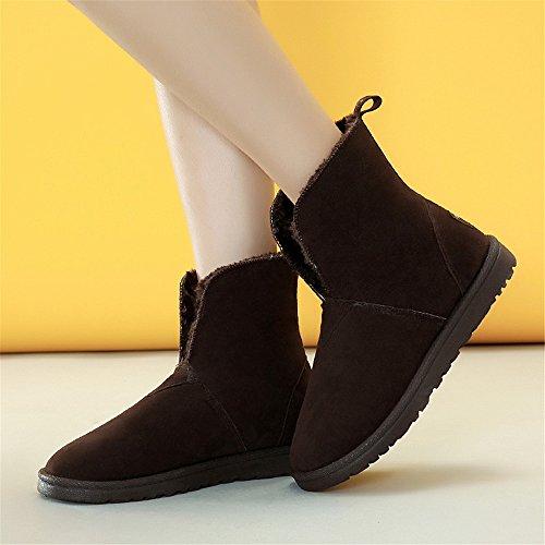 cotone di lana black Scarpe a colori calda Boots Snow ispessita invernali O07PpcF