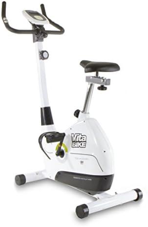 BH Vitabike YH200 - Bicicleta estática, Volante de inercia 7 kg, Freno magnético, Monitor LCD, Ruedas de transporte, Blanco: Amazon.es: Deportes y aire libre