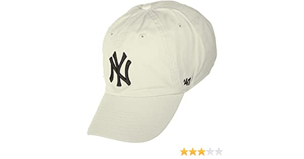 Gorra curva crema de New York Yankees MLB Clean Up de 47 Brand ...
