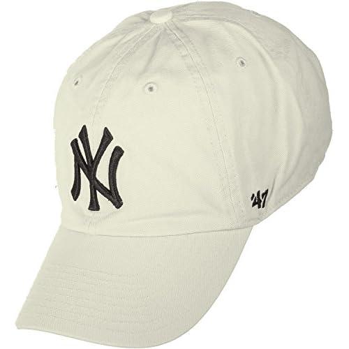 4d0f225147096 Gorra curva crema de New York Yankees MLB Clean Up de 47 Brand Envio gratis