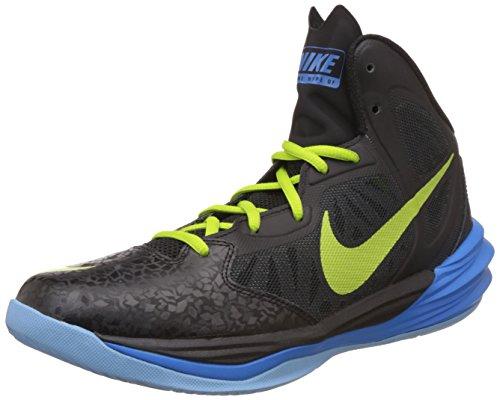 Nike Mens Prime Hype Df Basketbalschoen Zwart / Fotoblauw / Meeroever / Chartreuse