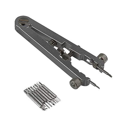 ALEXTREME Watch Repair Tool Kit, Spring Bar Tool, Watch Spring Bar Tool, Watch Standard Plier Remover Set Stainless Steel Bracelet Spring Bar Removing Tweezers Tool Kit (Dark Grey)