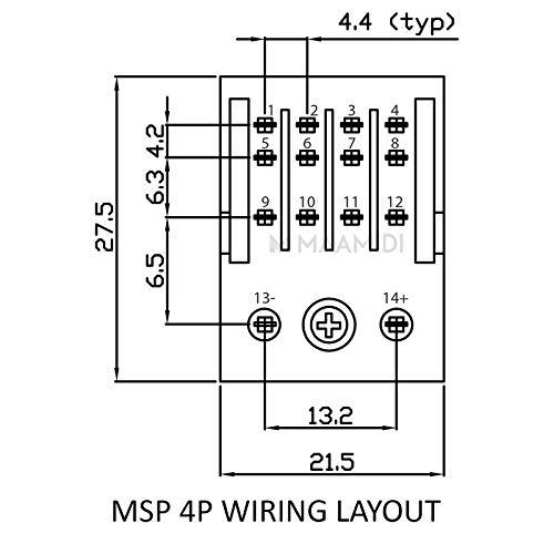 Salzer Relay 5a 24v Dc 4pole 4c O 14 Pin Msp Base Amazon In Industrial Scientific